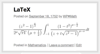 LaTex Makes Beautiful Math|Jetpack for WordPress