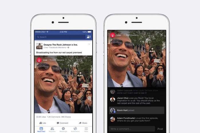 Facebookでライブ動画の配信ができるようになる!今はVIPしか使えないけど…