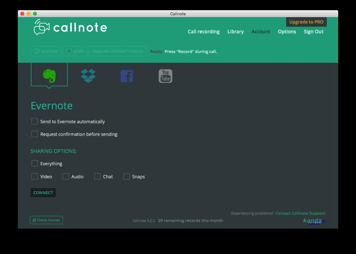 Callnoteからシェアする