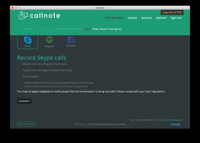 Callnoteで録音