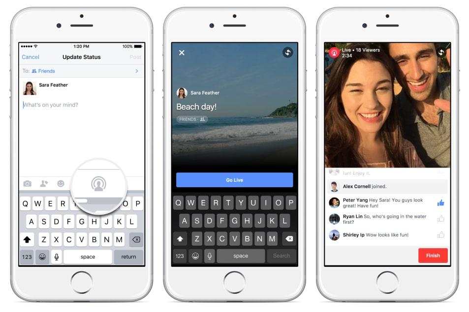 ついにセレブ以外もFacebookでライブ配信できる日がやってくる!