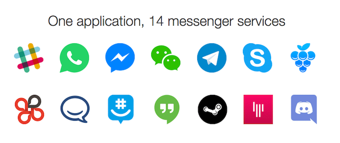 One application, 14 messenger services