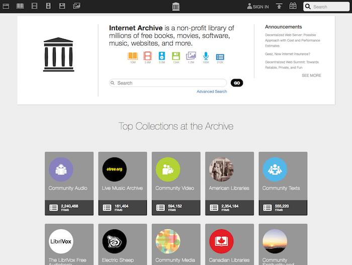 インターネットアーカイブ(Internet Archive)