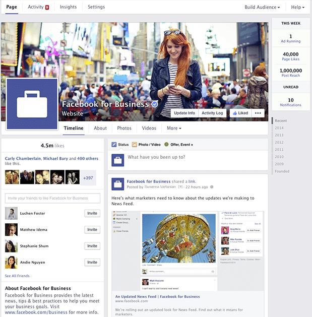 旧Facebookページデザイン