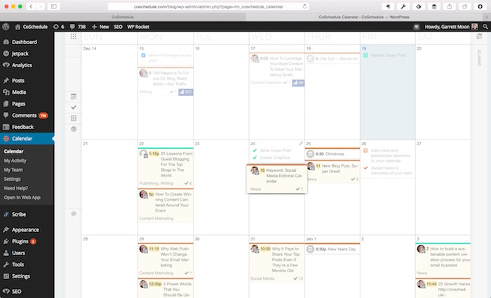 CoSchedule WordPressCalendar
