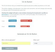 PeriscopeのオンエアボタンをWEBサイトに埋め込んでライブ配信の認知度アップ!