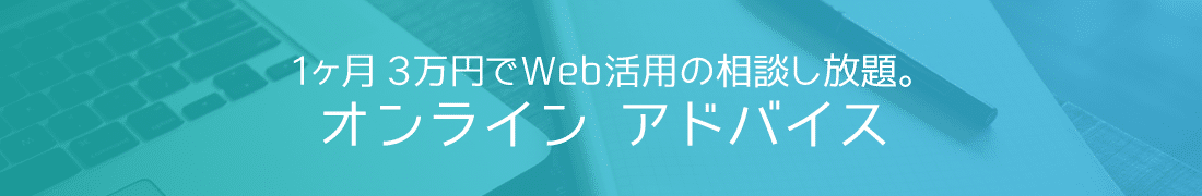 ウェブ活用オンラインアドバイス