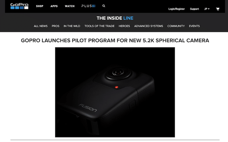 GoProが5.2Kの360度カメラ「Fusion」を年内に発売予定!