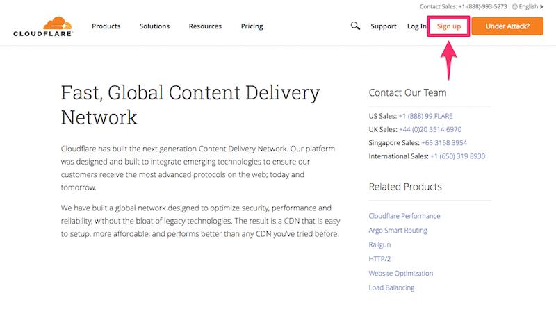 Cloudflareでアカウントを作る