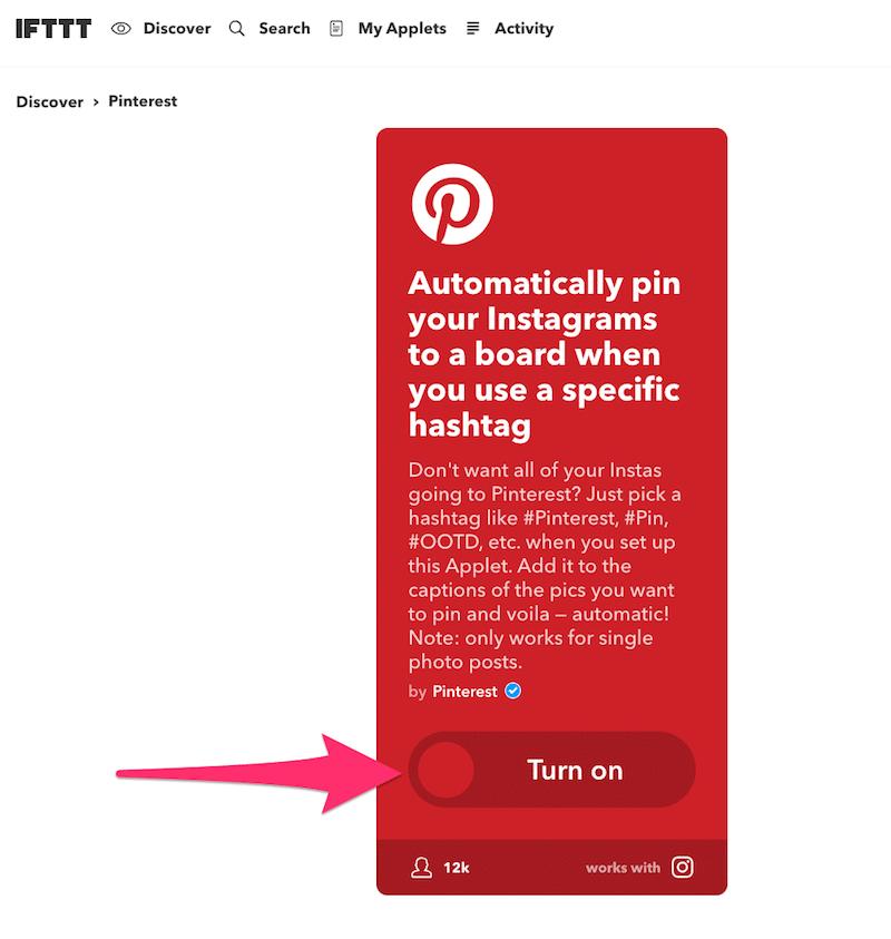 instagramの投稿を自動でピンするアプレット