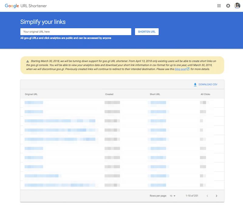 goo.glが2019年3月30日でサービスのサポートを終了