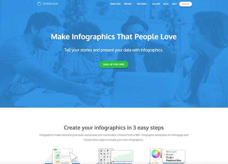 インフォグラフィック作成ツール「venngage」