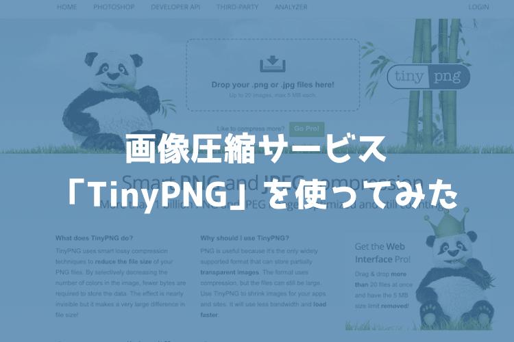 画像圧縮サービス「TinyPNG」で猫の写真を圧縮してみた