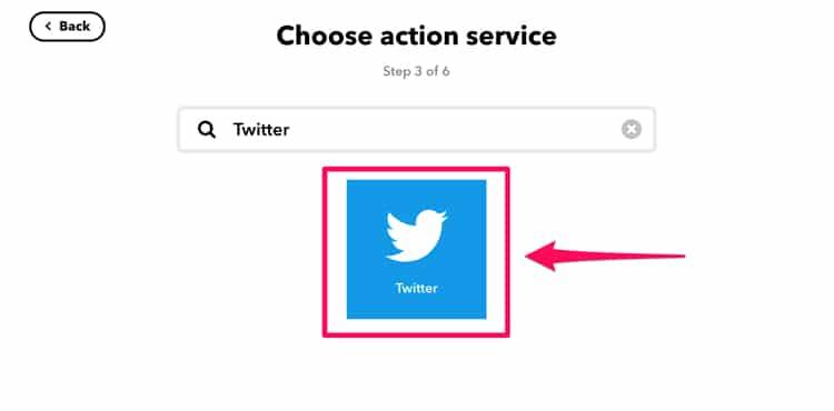 IFTTTでツイートの設定をする