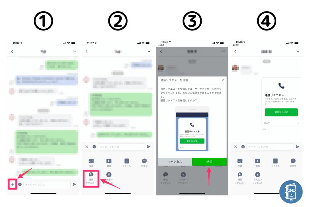 管理アプリで「通話リクエスト」を送る